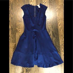 Navy blue sleeveless Bar III v- neck dress